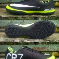 Sepatu Futsal Nike Mercurial X CR7 Hitam-Stabilo list Putih Grade Ori