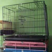kandang besi lipat untuk kucing, kelinci, ayam dll