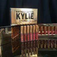 KYLIE BIRTHDAY GOLD BOX isi 6 / Matte Liquid Lipgloss Set / Lip Kit
