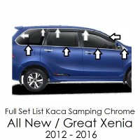 Full Set List Kaca Samping Chrome Daihatsu Great Xenia 2012-2016