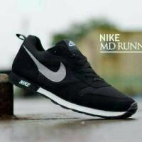 Jual Sepatu Casual Pria Nike MD Runner Hitam Black Nike Waffle Trainer Murah