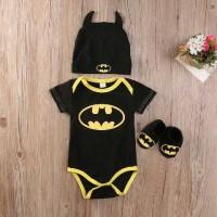 Jual Jumper baby motif Batman bonus topi n kaoskaki (usia 3 sd 12bulan) Murah