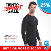 Baselayer Manset Tiento Long Sleeve Black White Original