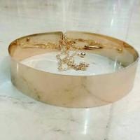 Jual gesper full plat rantai gold 5 cm. ikat pinggang wanita korea. Murah