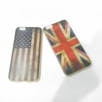 Case iphone 6+ 6+s bendera uk / amrik soft jacket