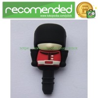 Queen Guard Anti Dust Plug Accessories - Black/Red