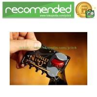 Wallet Ninja 18in1 Multi Purpose Credit Card Sized Pocket Tool - Black