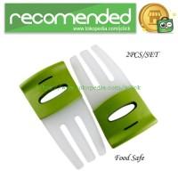 Salad Hands with Non-Slip Handles / Pengaduk Salad - White/Green