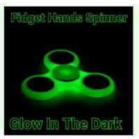 Jual Fidget Hand Spinner GLOW IN THE DARK Toys Spiner Mainan Jari Putar Murah