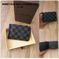 Money Clip LV Damier Hitam Premium kode 6384