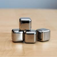Jual Reusable Stainless Steel Ice Cube  Es Batu Stainless  Silver  6 P 1 Murah