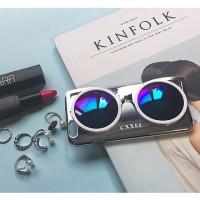 CXXEL Korea 3D Sunglasses Hard Case for iPhone 6 Plus  Silver Biru