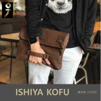 Tas Selempang Pria/clutch/handbag ISHIYA-KOFU (impor)