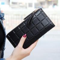 Dompet Wanita Double Zipper Fashion Wallet Dompet Panjang Dompet Kulit