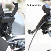 Holder Handphone / HP Motor Charger USB 2 in 1 Stang dan Spion Vinyx