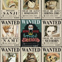 Poster Wanted Buronan Bounty Hunter One Piece Shichibukai Supernova