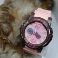 Jam Tangan Unisex / G-Shock Baby G D400 Brown Light Pink Strap
