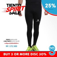 Baselayer Manset Tiento Long Pants Black Silver Original