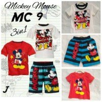 harga Paket Baju Murah Stelan Mickey Anak Laki Kaos Dan Celana Impor Tokopedia.com