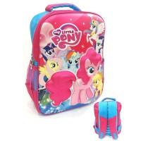Tas Ransel Sekolah Anak SD My Little Pony 3D Timbul Hard Cover