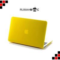 "Case Matte Macbook Air 13"" Yellow (no cut out)"