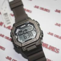 Lorus Men's R2301LX9 Digital Grey Dial Jam Tangan Anak Original Alarm