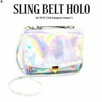slingbag tas selempang tumblr fashion hologram belt simple