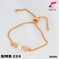 Gelang Xuping Emas Love Mutiara Putih Perhiasan Imitasi 18k MR 224