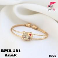 Gelang Xuping Hello Kitty Pita Cute Lapis Emas 18k MB 181