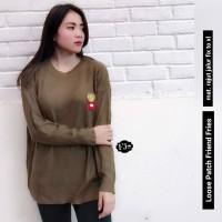 Baju Atasan Wanita Jumbo XL Rajut Murah Terbaru Coklat Blouse Sweater