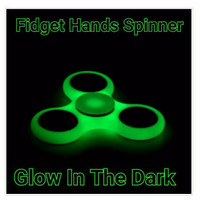 Fidget Hand Spinner GLOW IN THE DARK Toys Spiner Mainan Jari Putar NEW