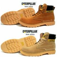 Sepatu CAT/Caterpillar Boots Licin sol hitam