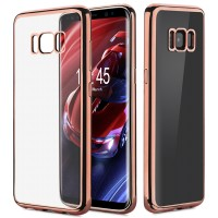 ShockProof Bumper Silicone Rubber Clear Case Cover Samsung s7 s8 Plus