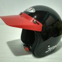 Topi Pet FINO Panjang Helm Classic Bogo Retro Vespa Cakil Cross MERAH