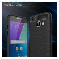 Case Samsung Galaxy A3 2017 Ipaky Carbon Fiber Soft Series