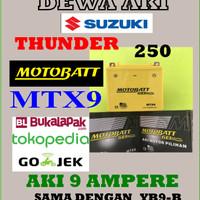 Aki Gel Kering SUZUKI THUNDER 250 Motobatt MTX9 / YB9-B Aki GS YUASA