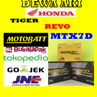 Aki Gel Kering HONDA TIGER REVO Motobatt MTX7D / GM7B-4B Aki GS YUASA