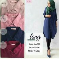 Jual Baju Atasan / Baju Muslim / Blouse Tunic Kemeja / Long Shirt Tunik Murah