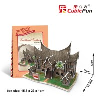 Jual Cubicfun 3D Puzzle World Style Traditional Residence In Indonesia Murah