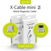 Jual WSKEN x-cable Mini 2 Magnetic for Android and Iphone - LONG Cable 2M Murah