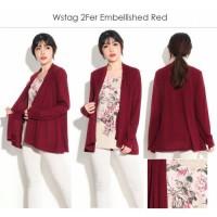 Branded - Big Size Floral Blouse Cardigan