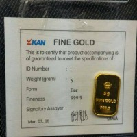 Jual Logam Mulia Emas ANTAM 5 gram Bersertifikat Murah