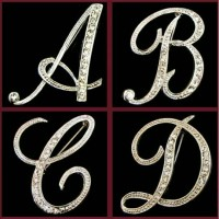 Bros hijab letter inisial huruf font bross brooch leter