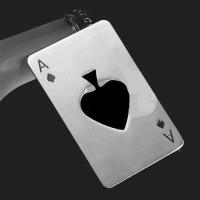 Pembuka Tutup Botol Kartu Poker Stainless Steel