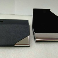 Jual Name card case metal Asimetris shape Murah