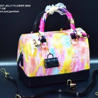 Tas FURLA Speddy Jelly Flower Semi Ori Hitam