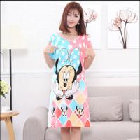Piyama baju daster baju tidur wanita panjang model lebih besar FCG051