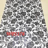 Jual WPS176 WHITE N BLACK DECORE WALPAPER-DINDING WALL PAPER STIKER Murah