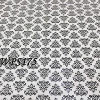 Jual WPS175 WHITE N CUTE BLACK VECTOR walpaper-dinding walpaper stiker din Murah