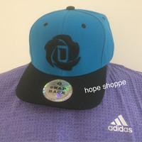 Original Adidas Snapback Derrick Rose Topi F83600 Snap Back Blue Asli